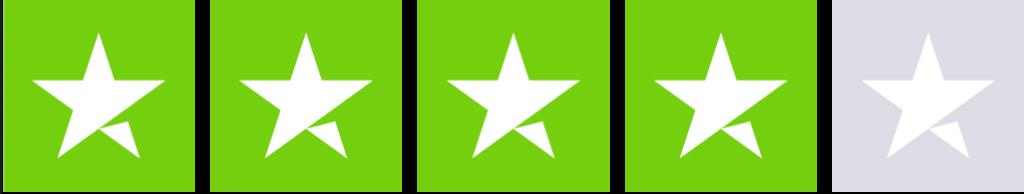 Trustpilot med en kundetilfredshed på 4 stjerner